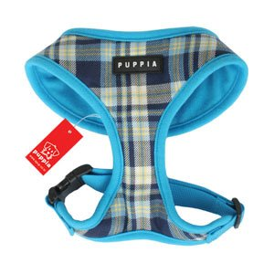 Puppia Blue Checked Harness