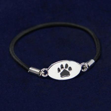 Black Paw Stretch Bracelet