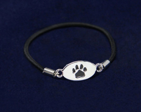 Black Paw Stretch Bracelet